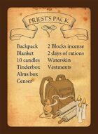 Equipment Pack Reference Cards (5th Edition)