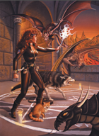 Larry Elmore's Demons Poker Deck
