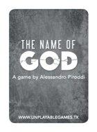 The Name of God [ITA Poker Size]