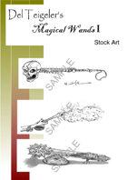 Del Teigeler's Magic Wands Stock Art