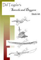 Del Teigeler's Swords and Daggers Stock Art