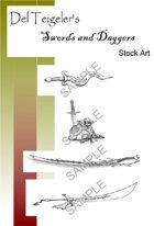 Del Teigeler's Swords and Daggers Stock Art