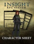 Insight RPG System: Character Sheet