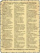 100 Things to Find in a Steampunk Workshop