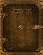 Hawaiian First Names Bundle [BUNDLE]
