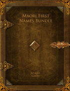 Maori First Names Bundle [BUNDLE]