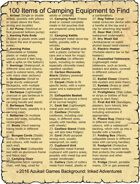 100 Items of Camping Equipment to Find