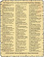 100 Things to Find in an Early Experimental Psychology Laboratory