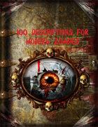 100 Descriptions for Modern Zombies
