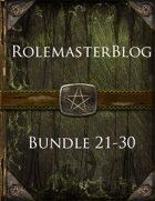 RolemasterBlog Bundle 21-30 [BUNDLE]