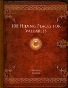 100 Hiding Places for Valuables