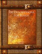 100 Descriptions for Rings