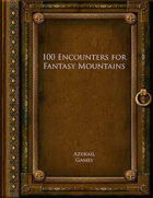 100 Encounters for Fantasy Mountains