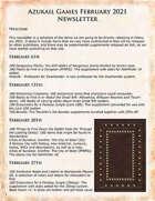 Azukail Games February 2021 Newsletter