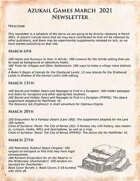 Azukail Games March 2021 Newsletter