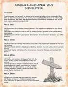 Azukail Games April 2021 Newsletter