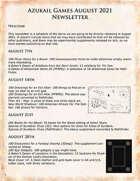 Azukail Games August 2021 Newsletter