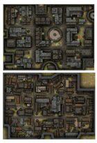 Rooftops and Alleyways Battlemaps [BUNDLE]