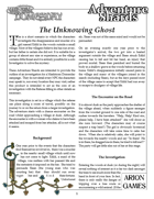 The Unknowing Ghost