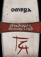 Shadow of the Demon Lord: Carte Magia OMBRA