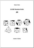 10,000 Random Rolls - d4