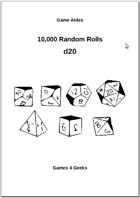 10,000 Random Rolls - d20
