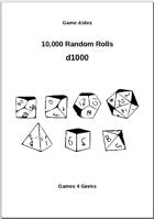 10,000 Random Rolls - d1000
