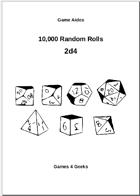10,000 Random Rolls - 2d4