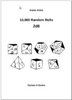 10,000 Random Rolls - 2d6