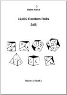 10,000 Random Rolls - 2d8