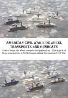 American Civil War Side Wheelers 1/1200