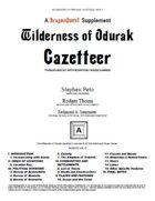 Wilderness of Ordurak Gazetteer