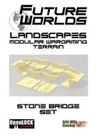 Future Worlds Landscapes:  Stone Bridge Set