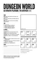 Minimalist Alternative Dungeon World Playbooks