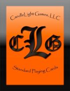 CandleLight Games Poker Cards (Orange)