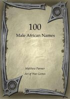 100 Male African Names