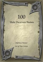 100 Male Dwarven Names