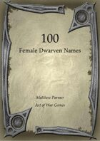 100 Female Dwarven Names