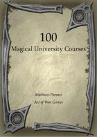 100 Magical University Courses
