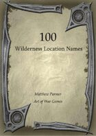 100 Wilderness Location Names