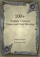 100+  Female Chinese Names and Their Meaning