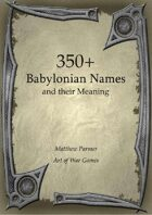 350+  Babylonian Names and Their Meaning