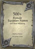 500+  Female Eqyptian Names and Their Meaning