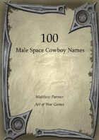100 Male Space Cowboy Names