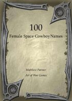 100 Female Space Cowboy Names