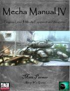 Mecha Manual IV: PL 5 Mecha Equipment and Weapons