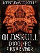 CASTLE OLDSKULL - Oldskull D100 NPC Generator