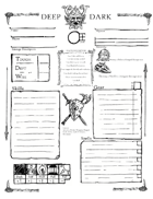 Deep Dark Character Sheet