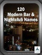 120 Modern Bar & Nightclub Names