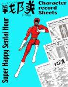 Super Happy Sentai Character record sheets